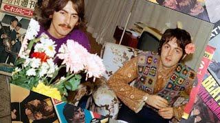 Обложка George Harrison Paul McCartney In Falsterbo To Meet Meditation Teacher Marharishi 1967