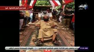 فيديو| مواطن يدلي بصوته في انتخابات الشيوخ على كرسي متحرك