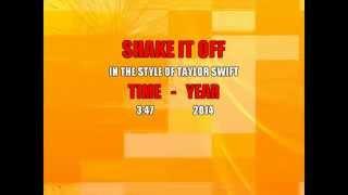 Taylor Swift - Karaoke SHAKE IT OFF ( Backing vocals )