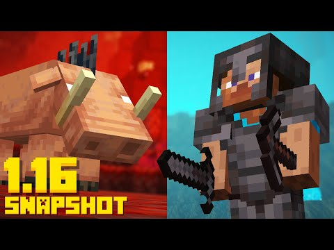 New Minecraft 1 16 Nether Update Netherite Hoglin Mob 20w06a