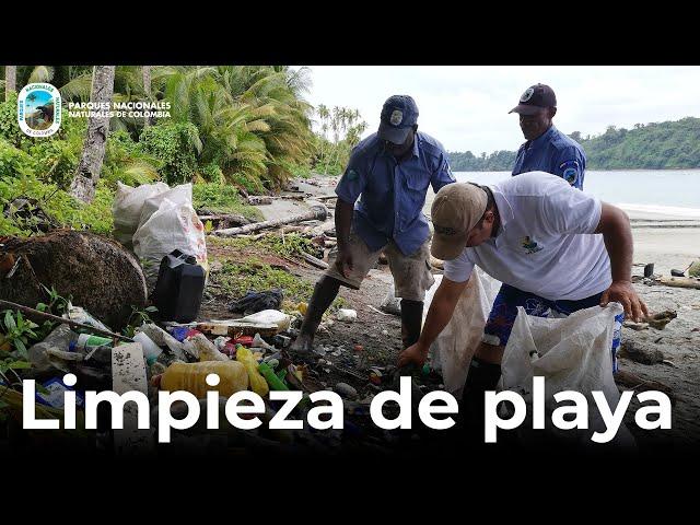 PNN Gorgona: así se desarrolló la limpieza de playas