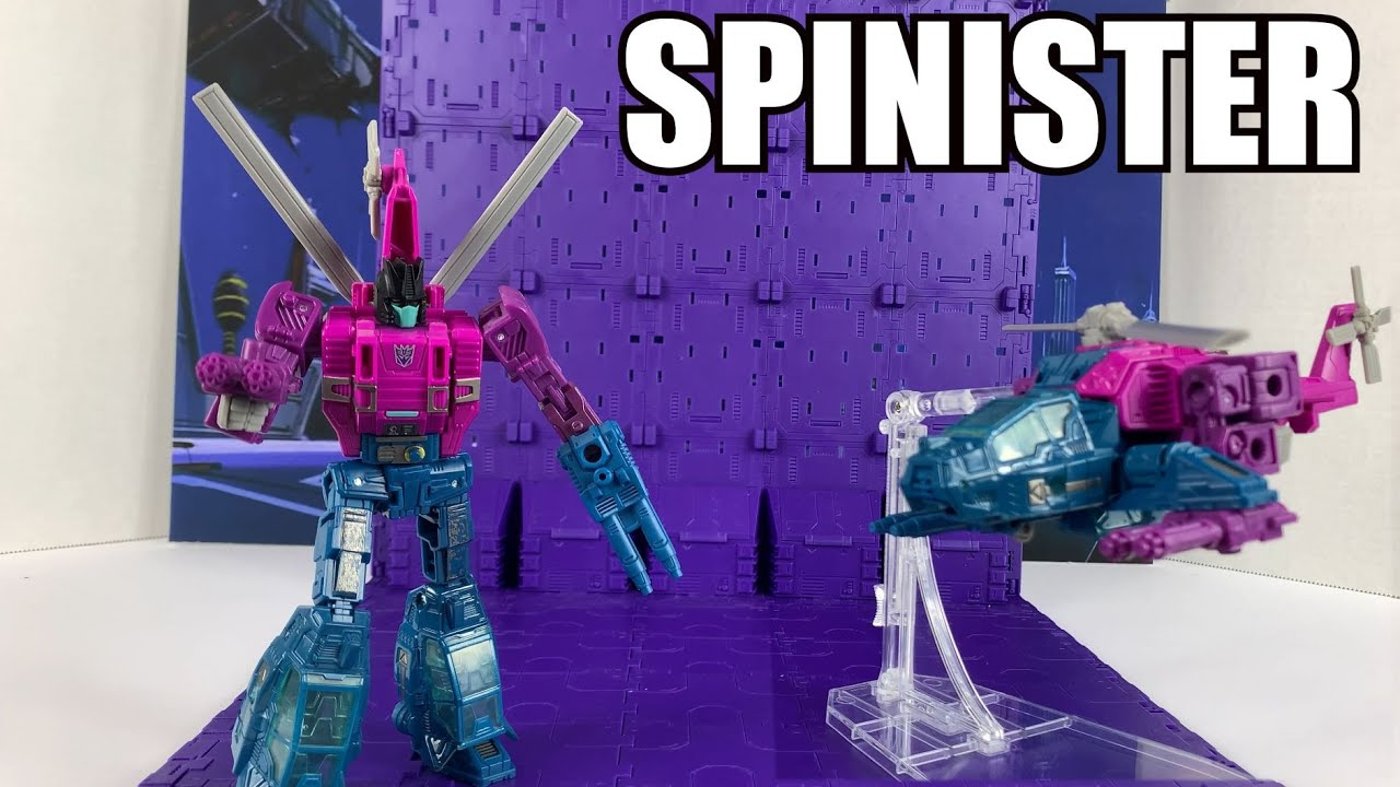 Siege War for Cybertron Spinister Unboxing and Review By Enewtabie