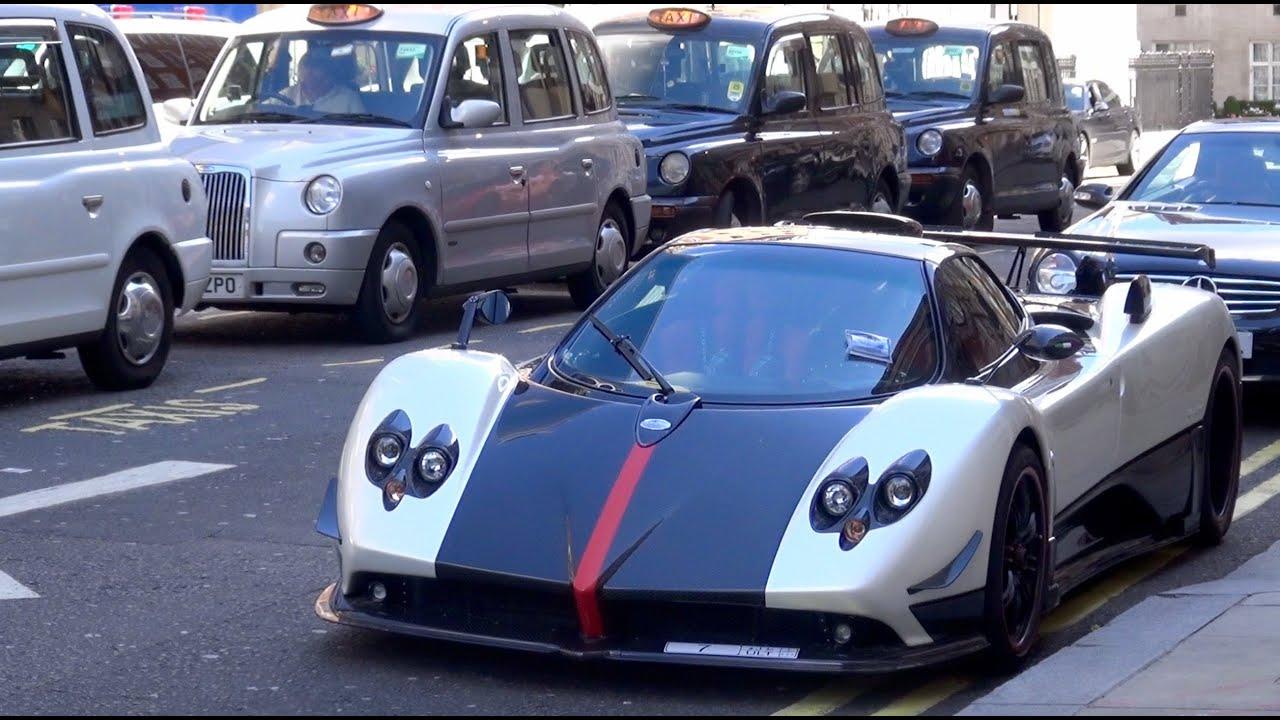 Pagani Zonda Cinque, Huayra & Ferrari Enzo in London!