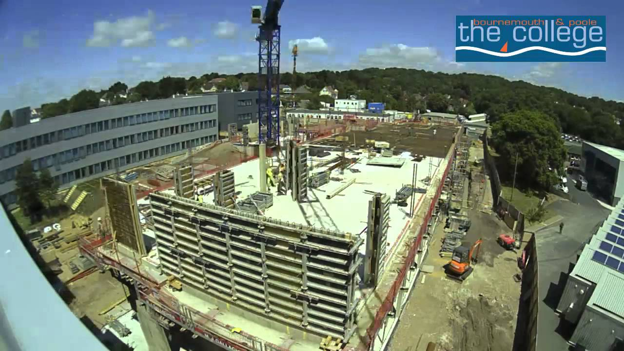 the bournemouth poole college building site north road youtube. Black Bedroom Furniture Sets. Home Design Ideas