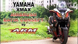 Yamaha XMax Airbrush Batik Design by ARM