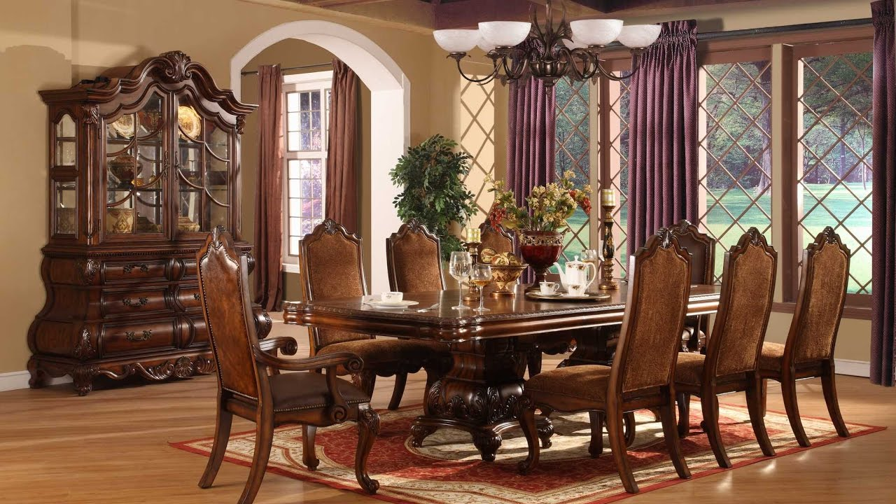 small elegant dining room tables | Elegant Formal Dining Room Sets - YouTube