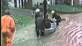 """1985 Flood In Clarksburg, WV, (First Street """"Part1""""), Pike Main Moticello Ave, Rescue Of Don Holmes"""