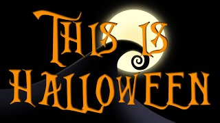 This is Halloween Backing track karaoke instrumental Nightmare before Christmas