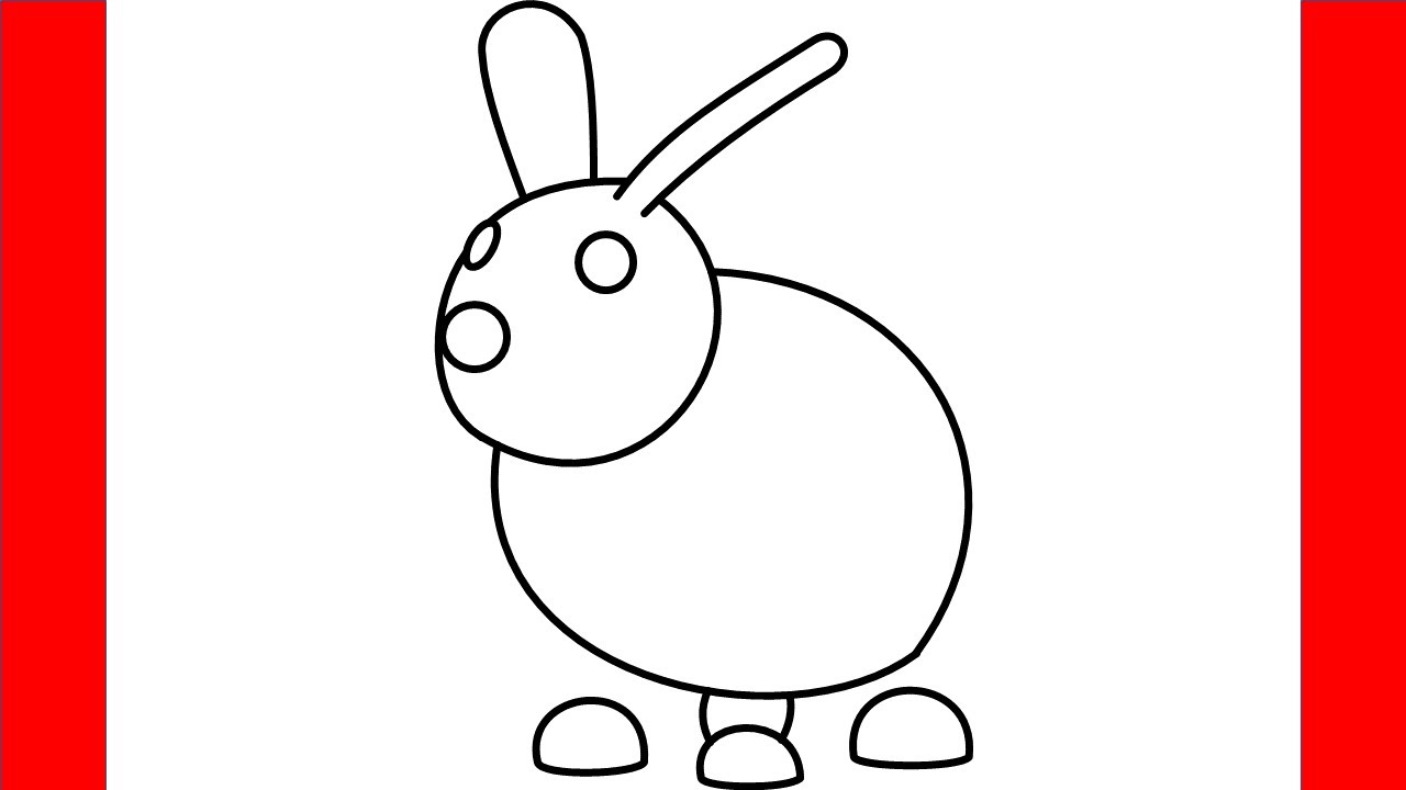 How To Draw Rabbit From Roblox Adopt Me - Step By Step ...
