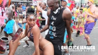 USAIN BOLT DANCING WITH LADIES AT JAMAICA CARNIVAL 2016
