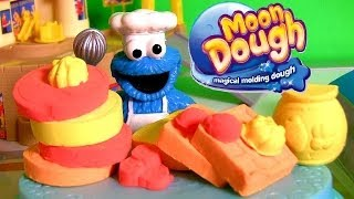 Moon Dough Breakfast Play Doh Croissants Muffin Pancakes Waffles DIY Desayuno Café da Manhã