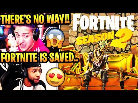 STREAMERS REACT TO *NEW* SEASON 2 CINEMATIC TRAILER! (HELICOPTERS + GOLD ISLAND) Fortnite UPDATE