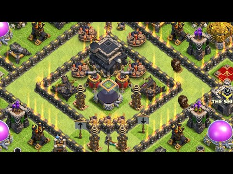 Townhall 9 Best Base Farming| New Ultimate Base Th9 | Coc Base Layout