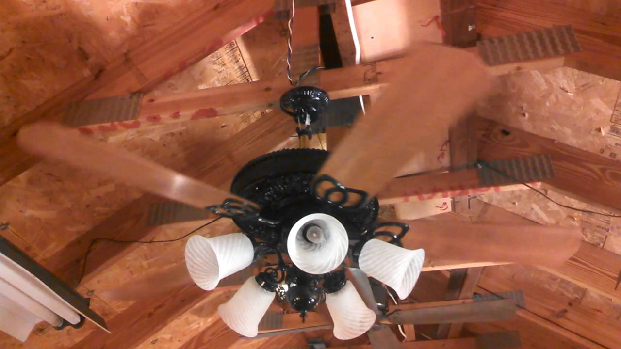Casablanca Columbia Ii Ceiling Fan Customized 5 Blade Youtube
