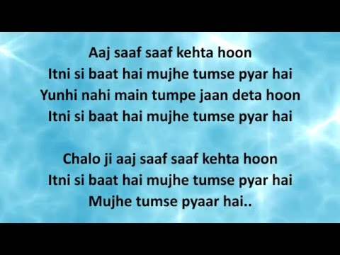 ITNI SI BAAT HAI LYRICS – Azhar | Arijit Singh,...