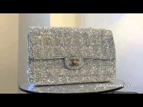 d37fe7fceefbe2 Urban Bling Chanel Bag Strass Comet Argent LIght - YouTube