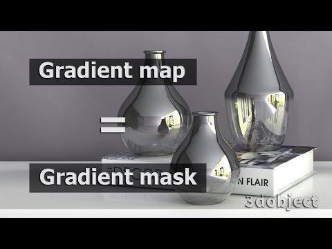 Моделирование вазы. Текстурирование в 3d Max. Gradient Map = Gradient Mask