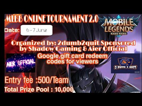 MLBB ONLINE TOURNAMENT 2.0 | Live stream | Google gift ...