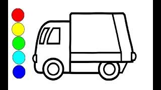 Wie zeichnet man Auto LKW | Zeichnen und Malen für Kinder