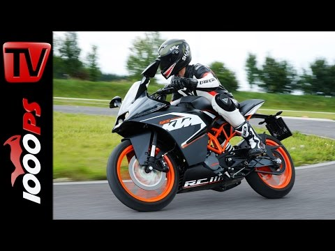 KTM RC 125 2014 Test - Action & Details