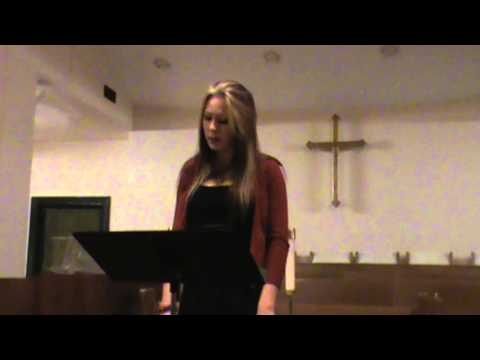 Holly Morton - What Songs Were Sung - Gregory Cross Vocal Academy Christmas Recital 2012