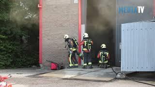 Grote brand in bedrijfspand Staringlaan Waddinxveen