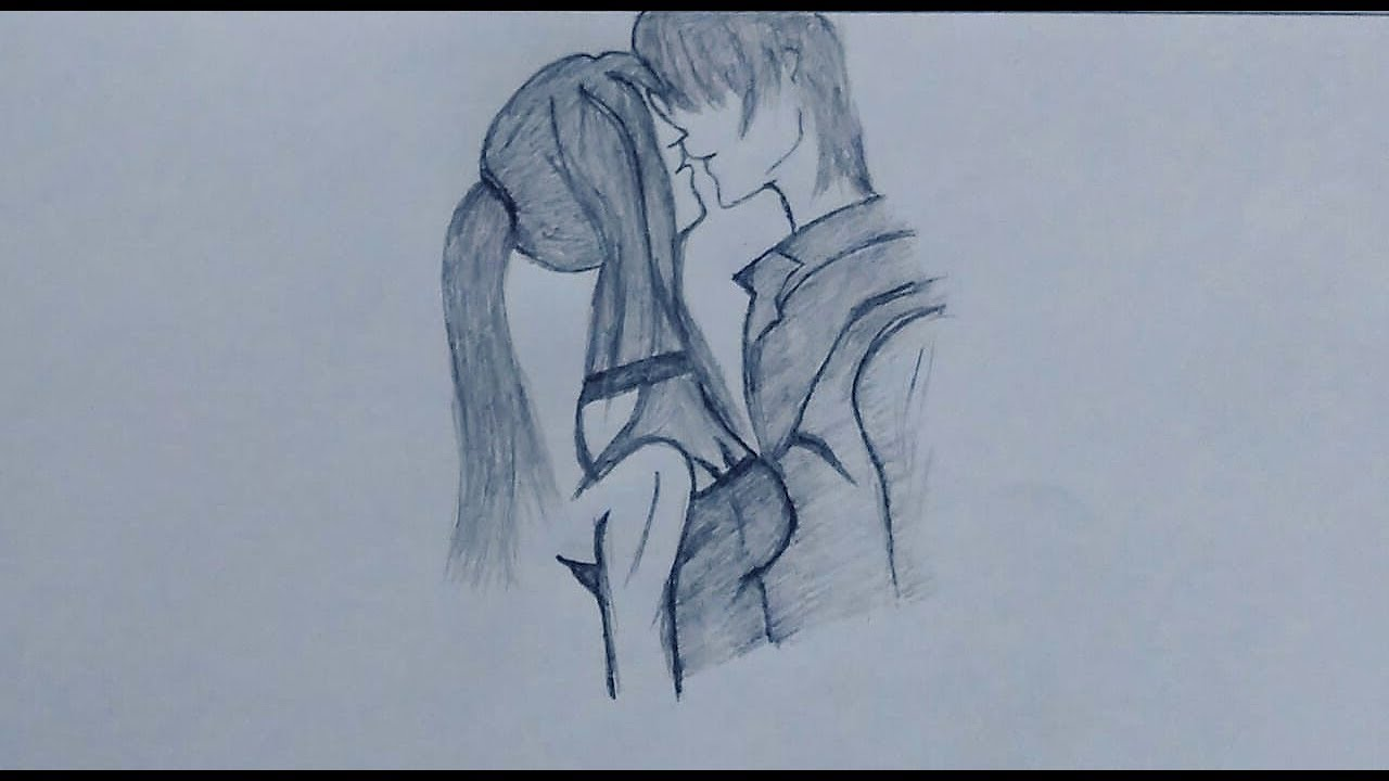 Draw anime sad couple anime world