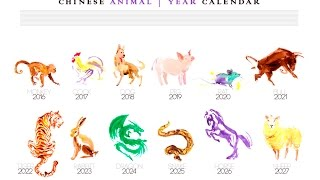 Year of the animal in 2017, 2018 horoscope, over the years, according to the Chinese calendar now