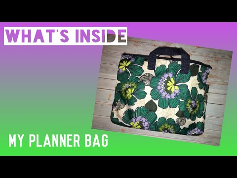 What's Inside My Planner Bag?! | Cheyenne's Plans
