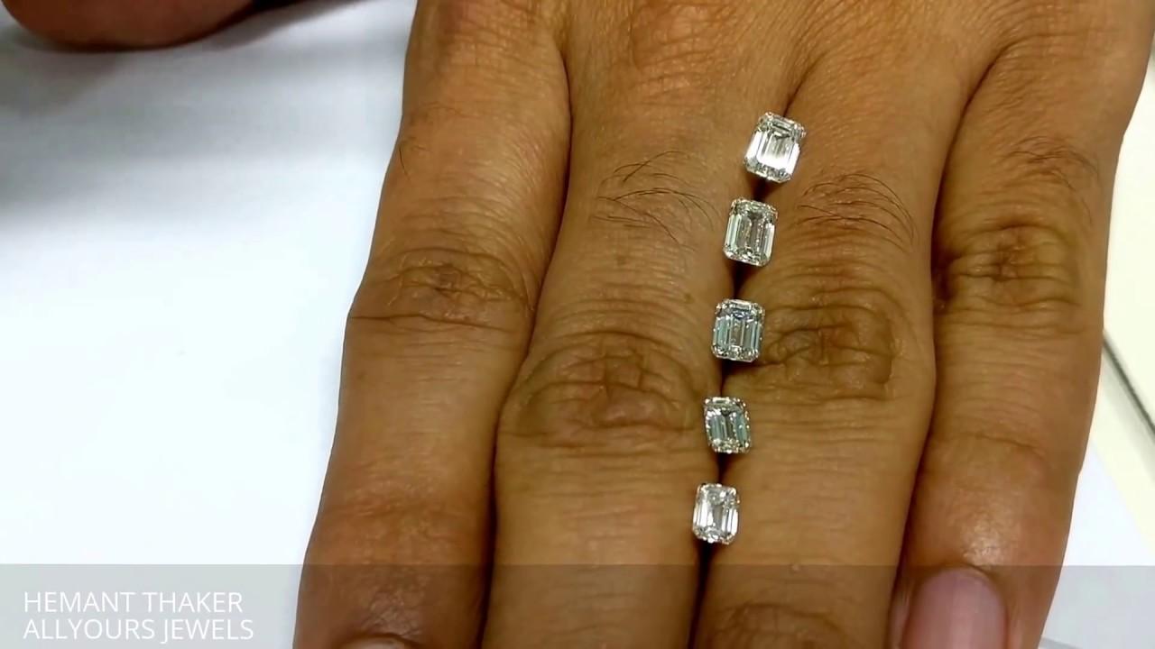 Emerald Cut Diamond Size Comparison On Hand 0 90 0 40ct