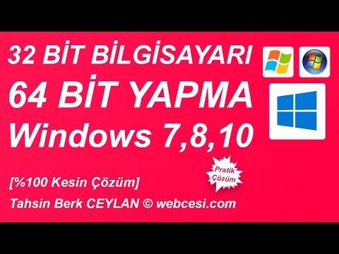 32 Bit Bilgisayarı 64 Bit Yapma [Windows 10, 8, 7]