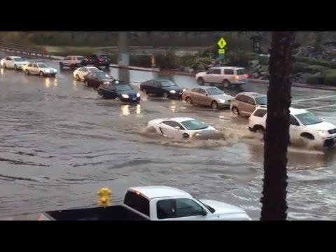 Watch This $200,000 Lamborghini Drive Through Flood Waters Like a Boss
