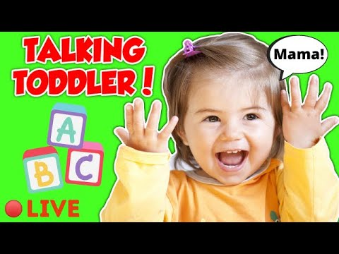 Toddler Learning Video - Learn To Talk -  Videos for Toddlers - Learn Colors, Numbers, Animal Sounds