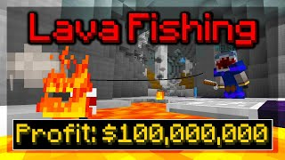 How to Make MIĻLIONS With Lava Fishing!! (Hypixel Skyblock)