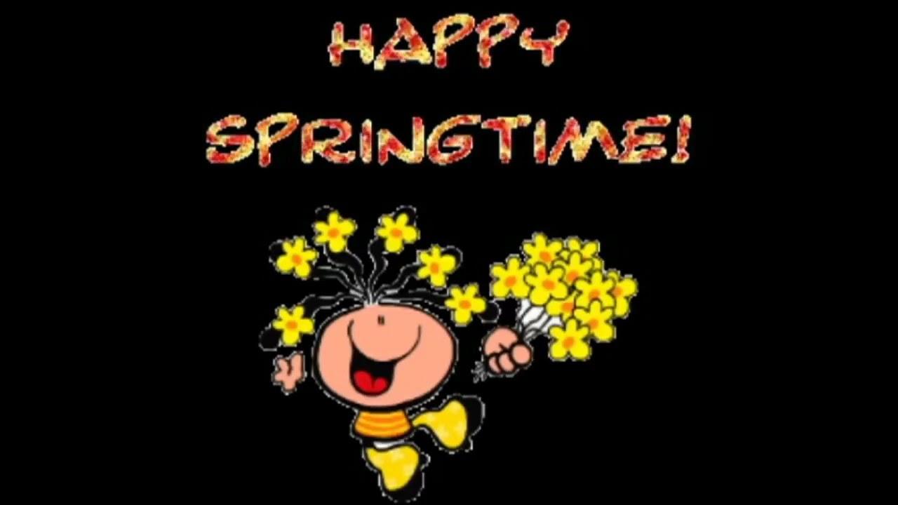 Happy Spring Season Animatedwishesgreetingssmsquotese Card