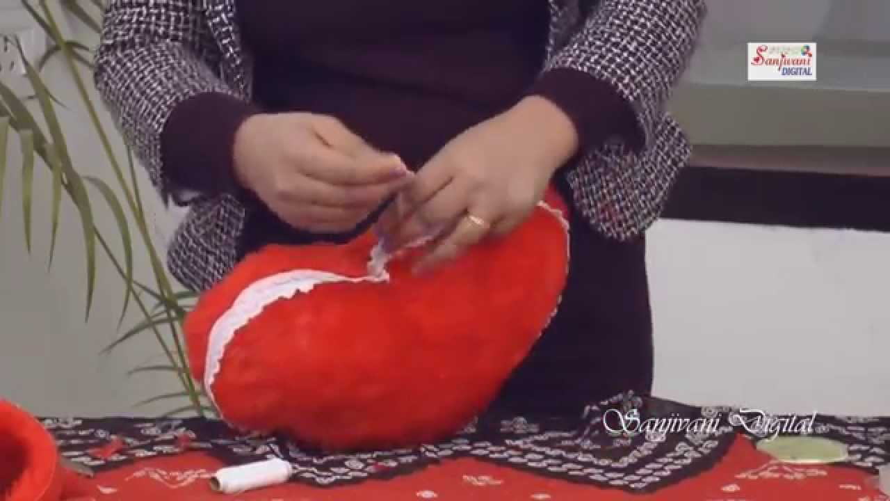 How To Make A Colorful Heart Pillow 4 Steps