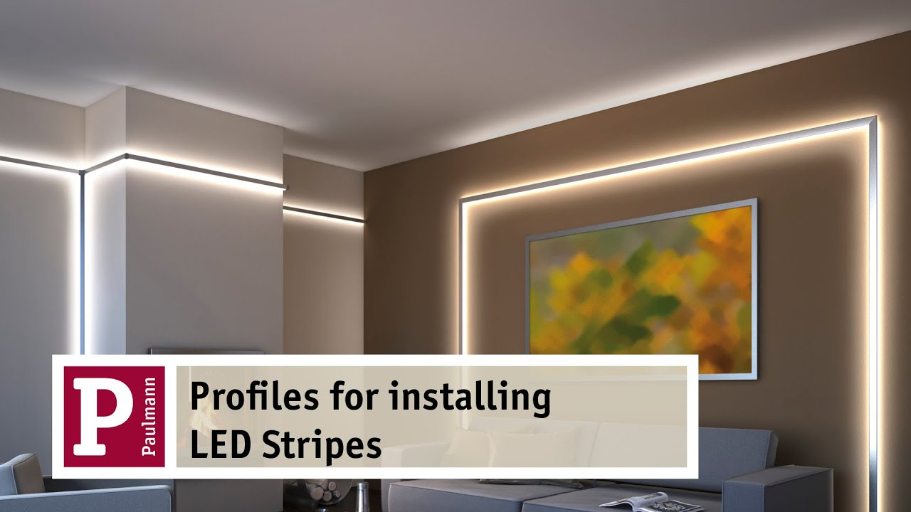 aluminium profiles for indirect lighting by led strips very easy to assemble youtube. Black Bedroom Furniture Sets. Home Design Ideas