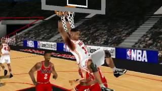 NBA LIVE 99 GAMEPLAY FULL GAME (chicago bulls va miami heat)