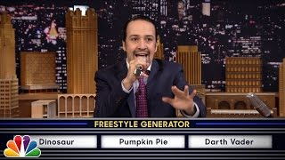 wheel of freestyle with lin manuel miranda from hamilton