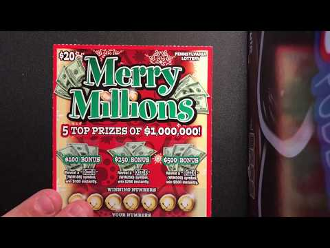 NEW!! CHRISTMAS LOTTERY TICKETS!! MERRY MILLIONS PA LOTTERY!! 🚨💥🐉🍀🐲