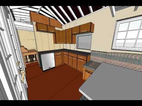 tiny house design with L shaped kitchen  YouTube