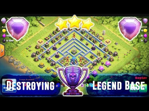 Destroying Legend Base TH12 - Grounds TH12 Attack Legend Base 2019 ( Clash of Clans )