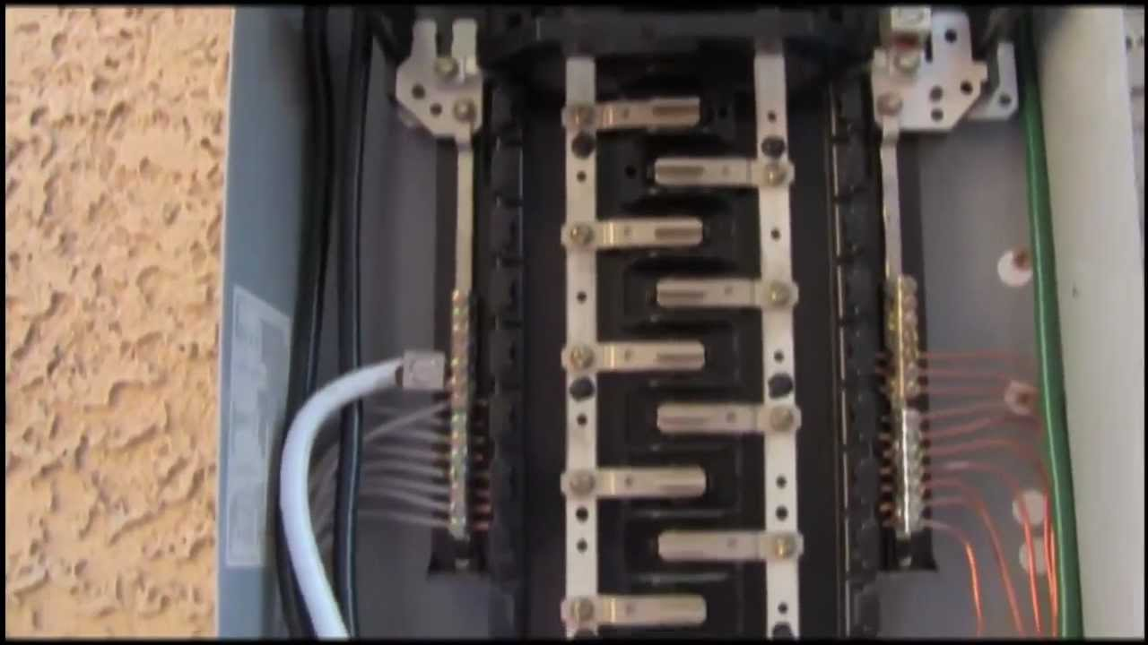 51 feeding a sub panel complete instructions youtube rh youtube com  square d 100 amp sub panel wiring diagram