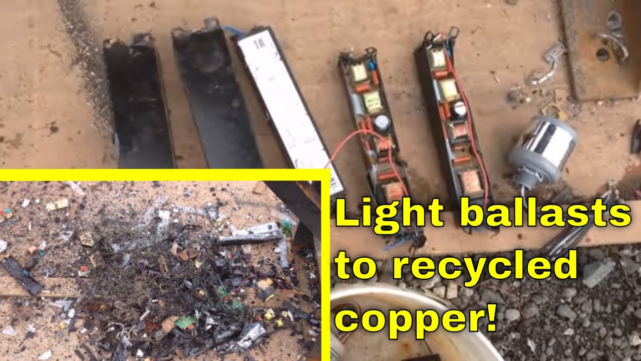 Light Ballasts For Copper Transformers And Circuit Boards Youtube