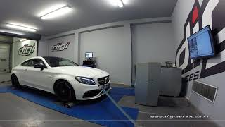Mercedes C 63 AMG S 510cv AUTO Reprogrammation Moteur @ 576cv Digiservices Paris 77 Dyno