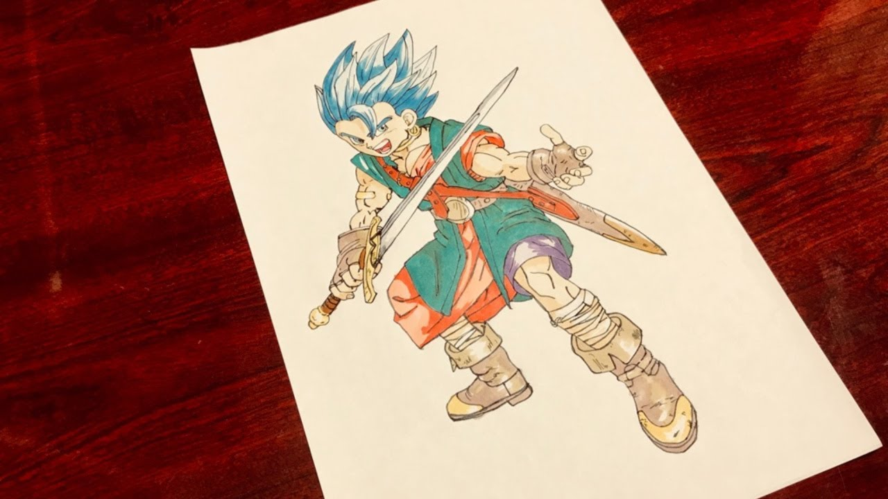How To Draw Japanese Anime Manga Dragon Quest Vi Art Drawing By Akira Toriyama Youtube