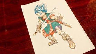 【How to draw】Japanese anime MANGA Dragon Quest VI  Art drawing By Akira Toriyama