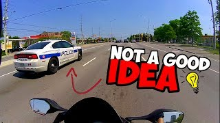 BREAKING RULES IN FRONT OF COPS..