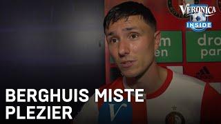 """Steven Berghuis na Feyenoord - Dinamo Tbilisi: """"De tegenstander wilde niet voetballen"""""""