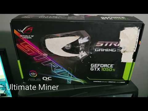 My First GPU Mining Rig Update Asus GTX 1050ti